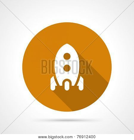 Rocket start up concept icon with long shadow vector flat design element