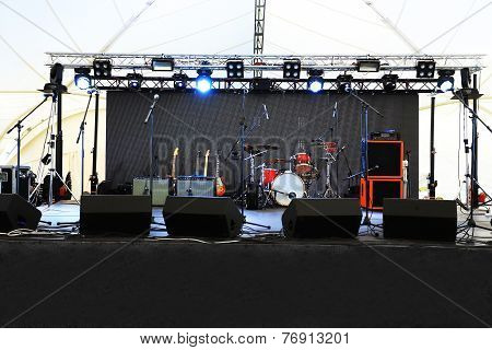 An empty Stage Before the
