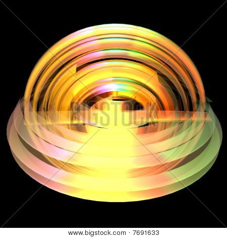 An abstract shape in colors - a 3d image