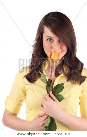 Teen with flower