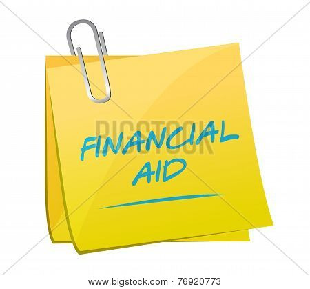 Financial Aid Memo Post Illustration