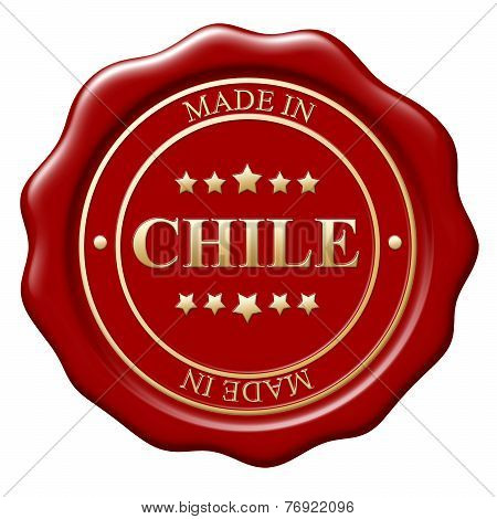 Illustration Of Made In Chile Wax Seal On White Background