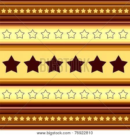 Horizontal Stripy Background With Stars