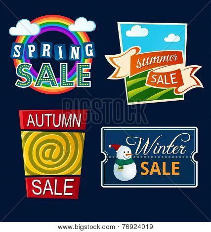 various seasonal sale event tittle