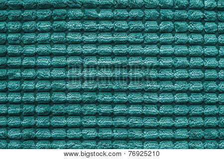Texture Of Terry Fabric Silvery Green Color