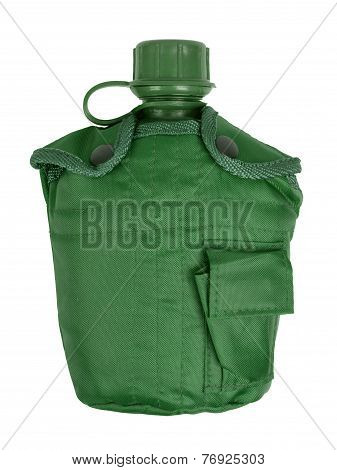 Army Water Canteen Isolated