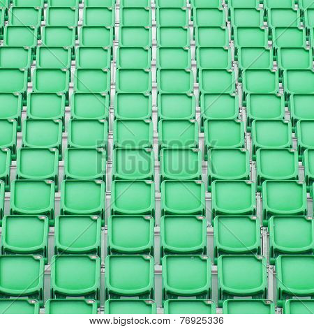 Green Seat In Sport Stadium