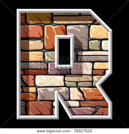 stone letter R