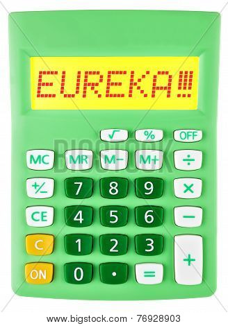 Calculator With Eureka  Isolated