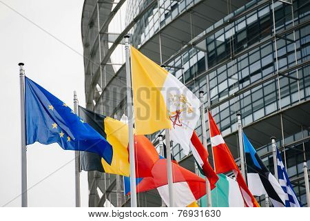 Vatican And All European Countries Flags