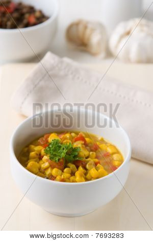 Coconut Milk Corn Curry