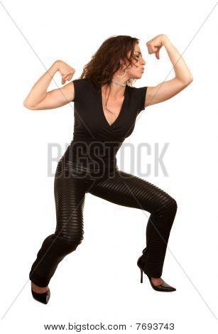 Pretty Woman Flexing