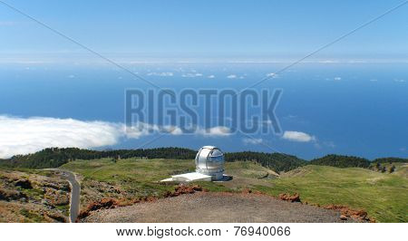 Astronomical Observatory In Roque De Los Muchachos. La Palma. Spain