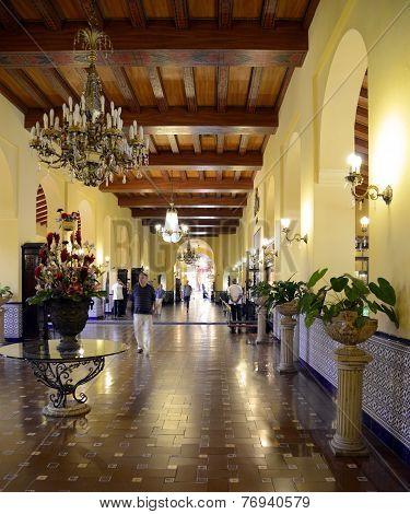 Lobby of Hotel Nacional, in Havana, Cuba
