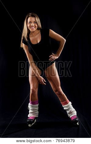 Beautiful Woman With Skates