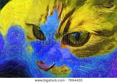 Stock Illustration Of Cat Portrait