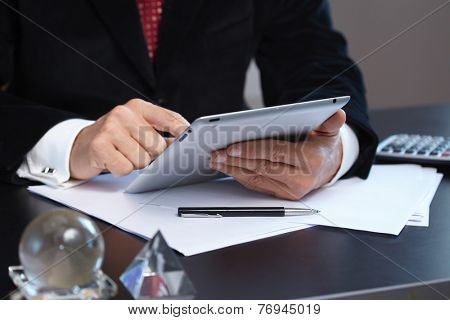 businessmen with digital tablet