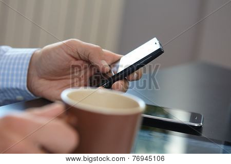 businessmen with mobile phone