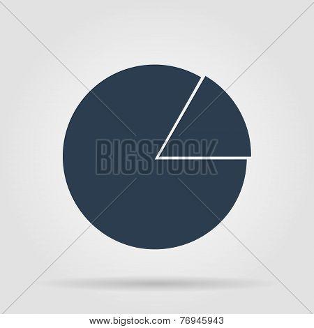 circular diagram web icon
