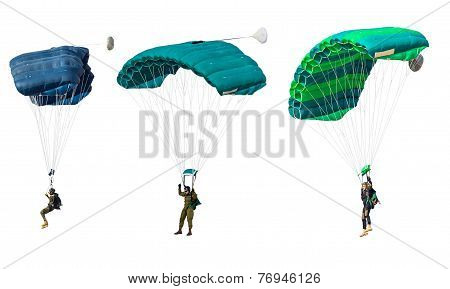 Man Athlete The Parachutist