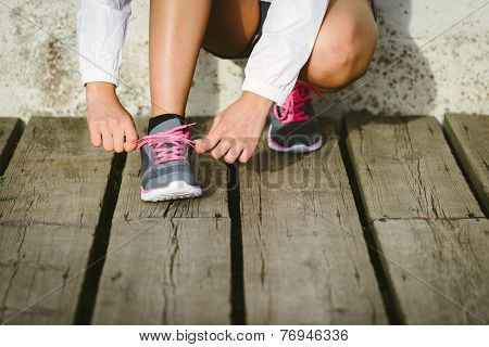 Athlete Getting Ready For Running