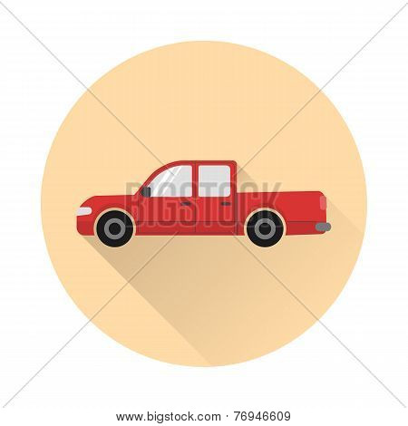 Pickup truck icon