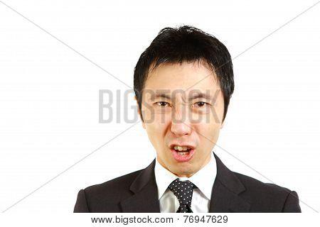 angry Japanese businessman
