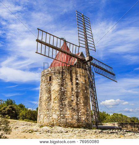 old windmill in Provence, France
