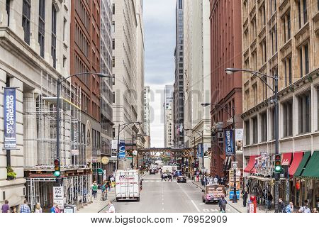 Finance District, Chicago, Illinois, Usa