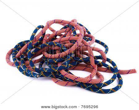 Climbing Rope On White Background