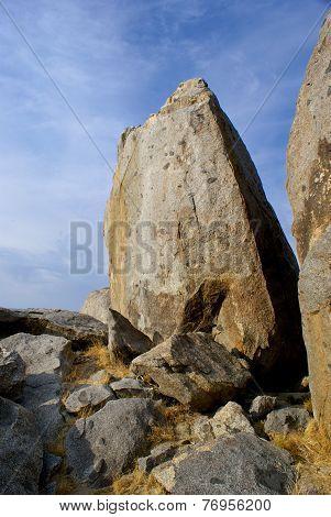 Desert Boulder In Mojave