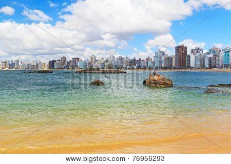 Beach Praia Da Costa, Vila Velha, Espirito Santo, Brazil