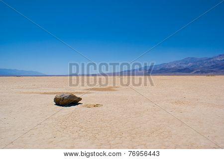 Single Rock In Mojave Desert