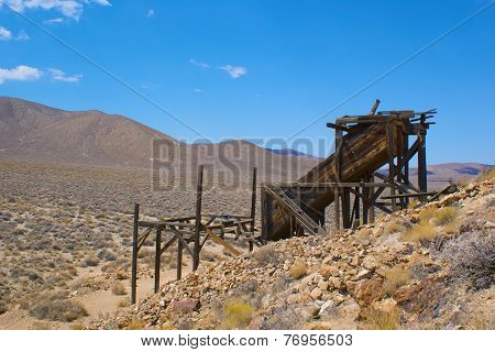 Wood Remains Of Gold Mine