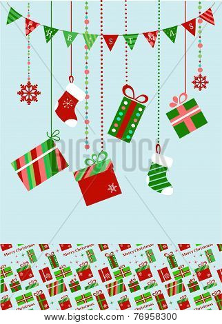 christmas socks and presents