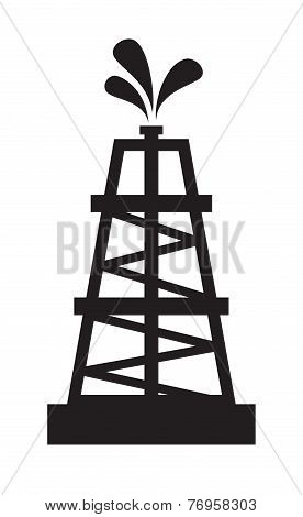 Oil rig illustration