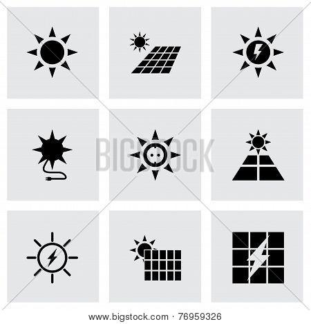 Vector solar energy icon set