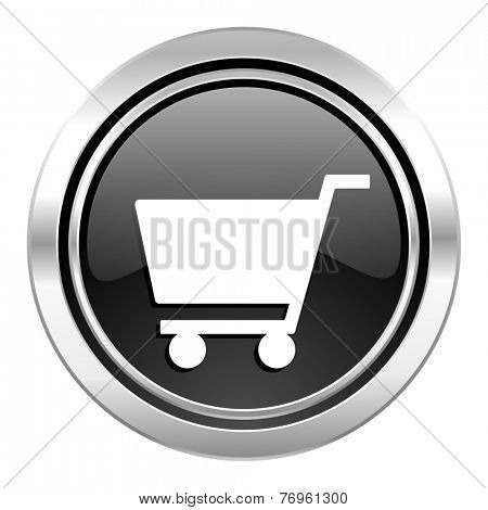 cart icon, black chrome button, shop sign