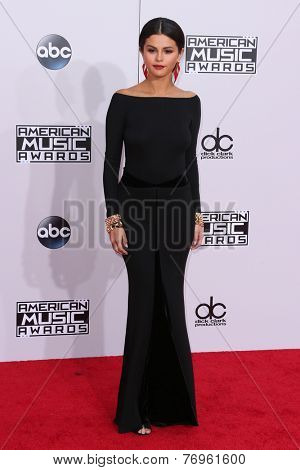 LOS ANGELES - NOV 23:  Selena Gomez at the 2014 American Music Awards - Arrivals at the Nokia Theater on November 23, 2014 in Los Angeles, CA