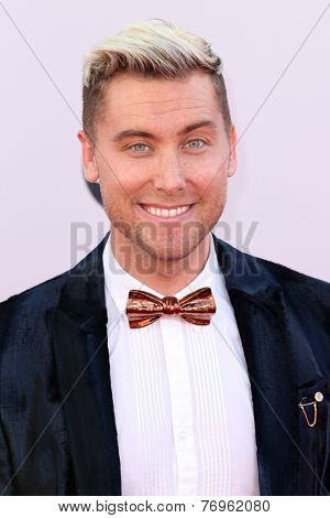 LOS ANGELES - NOV 23:  Lance Bass at the 2014 American Music Awards - Arrivals at the Nokia Theater on November 23, 2014 in Los Angeles, CA