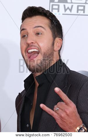 LOS ANGELES - NOV 23:  Luke Bryan at the 2014 American Music Awards - Arrivals at the Nokia Theater on November 23, 2014 in Los Angeles, CA
