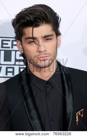 LOS ANGELES - NOV 23:  Zayn Malik at the 2014 American Music Awards - Arrivals at the Nokia Theater on November 23, 2014 in Los Angeles, CA