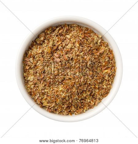 Flax Seed Meal In A Bowl