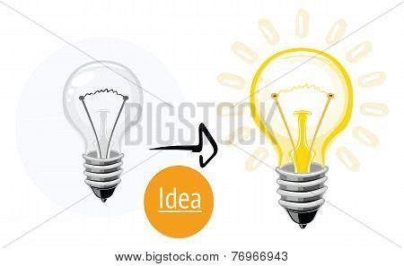 Idea concept with lightbulb