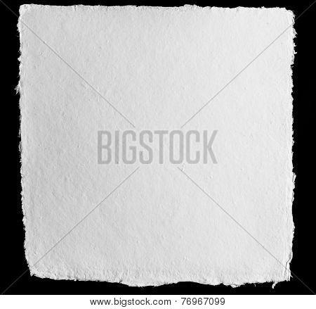Vintage white pressed paper on black background