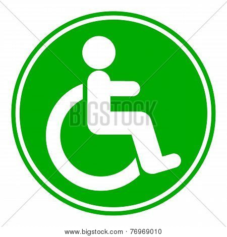 Disabled Sign Button