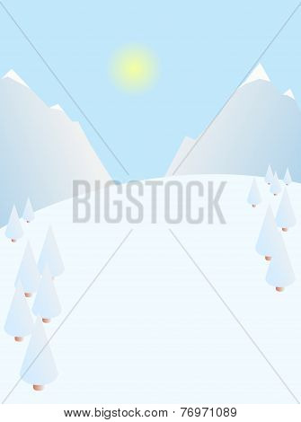 Winter landscape scene background