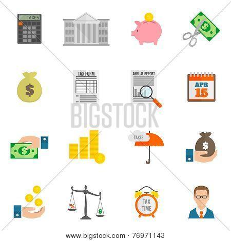 Tax icon flat