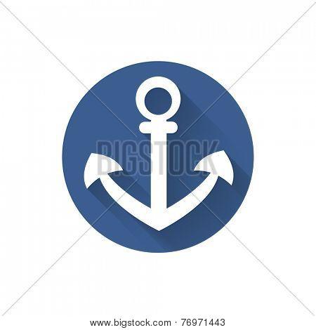 Anchor nautical symbol icon, vector illustration.