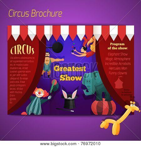 Circus performance brochure